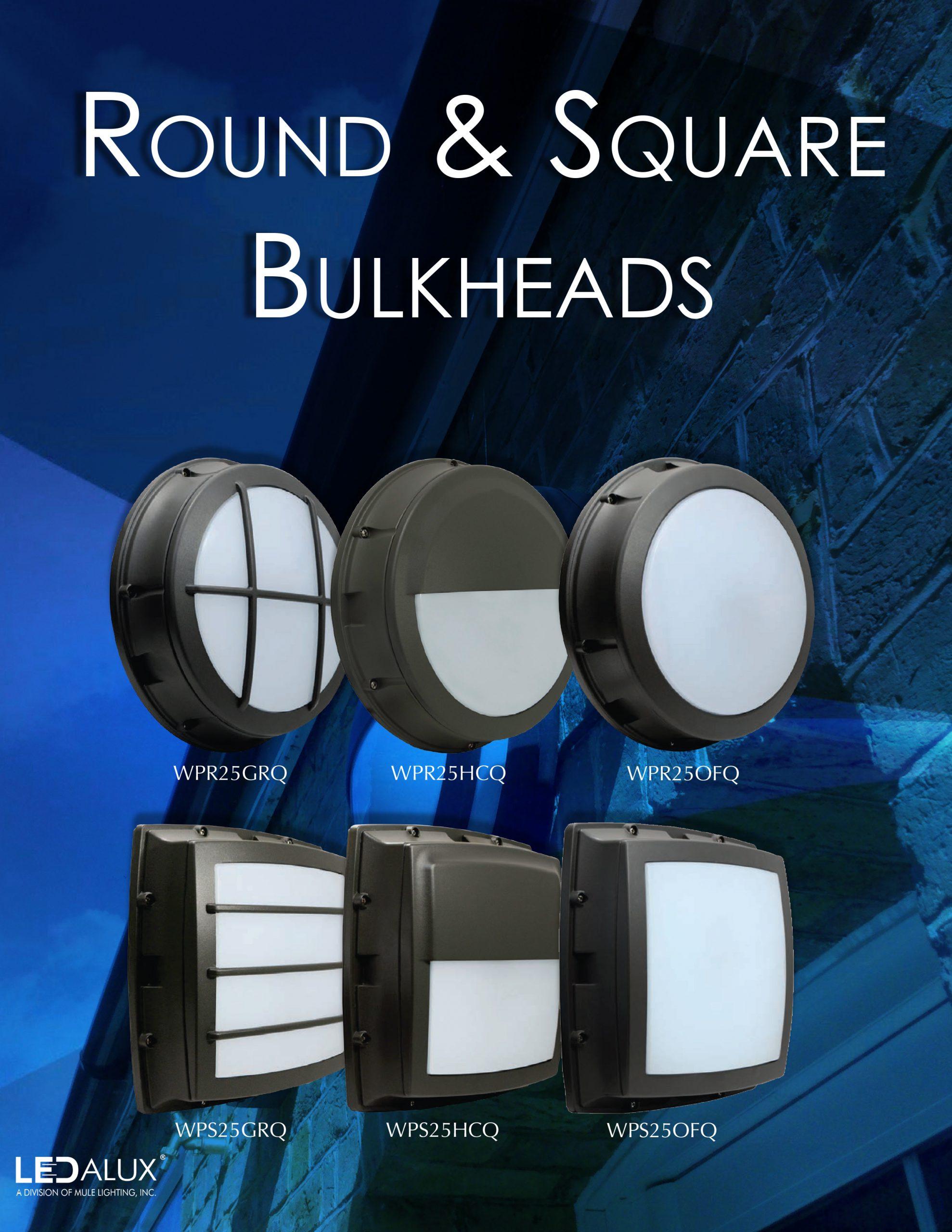 LEDalux Round & Square Bulkheads Literature