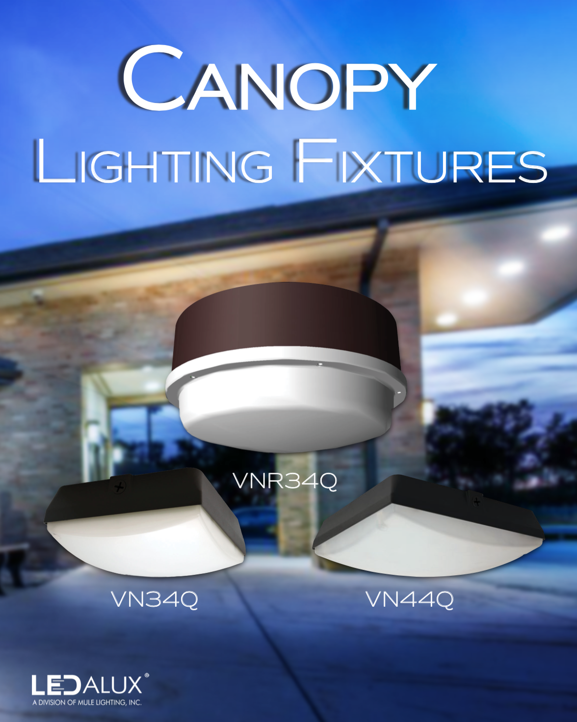 LEDalux Canopy Lighting Fixtures Literature