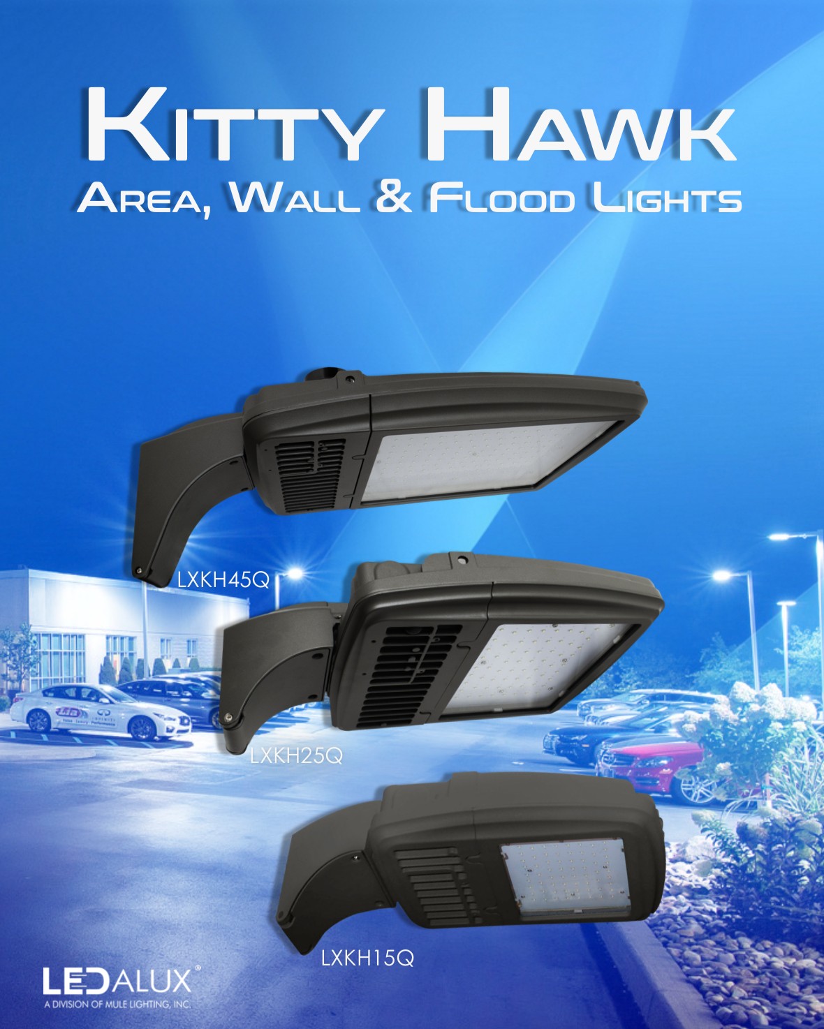 LEDalux Kitty Hawk Area, Wall & Flood Lights Literature