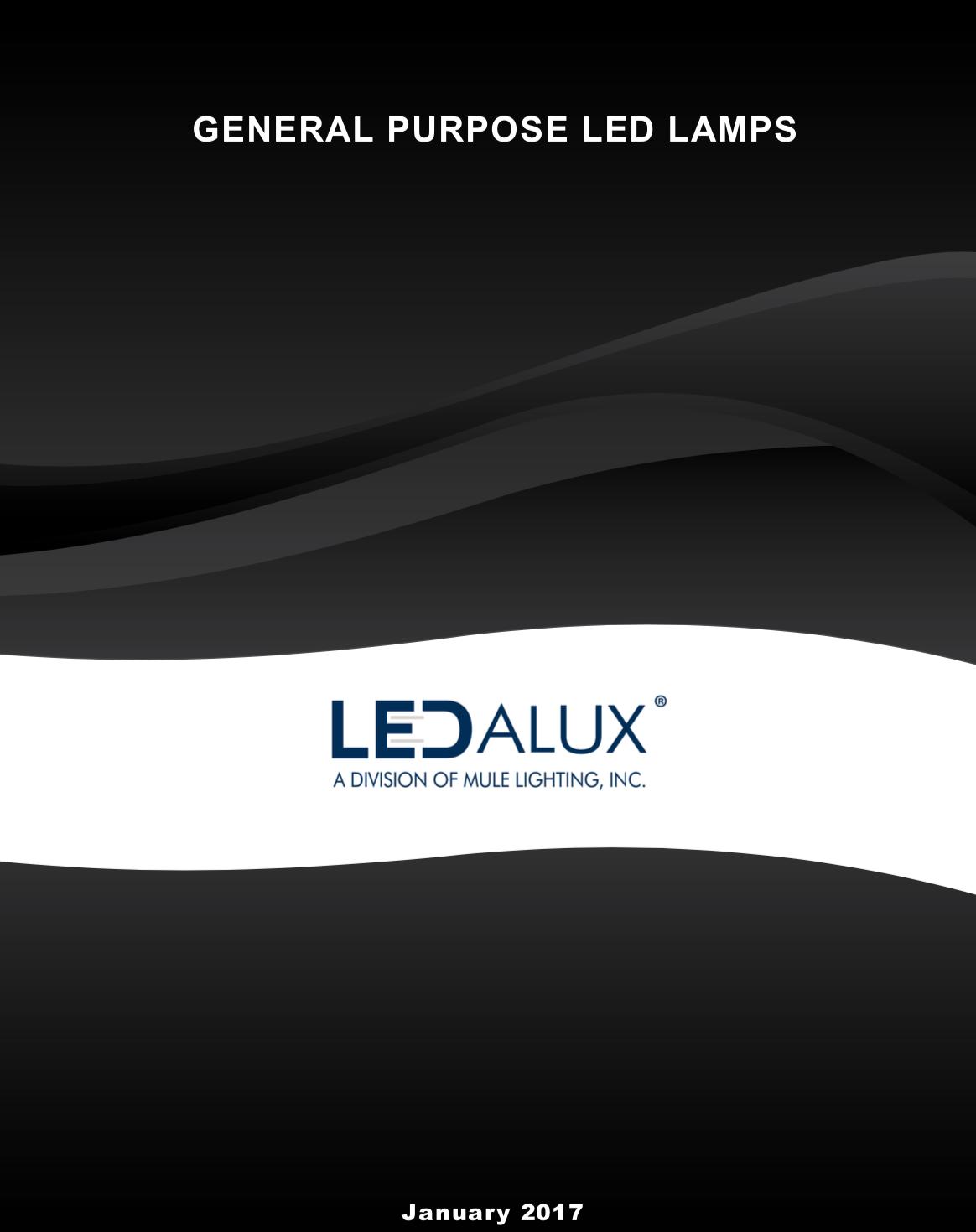 LEDalux LEDalux LED Lamp Catalog Literature