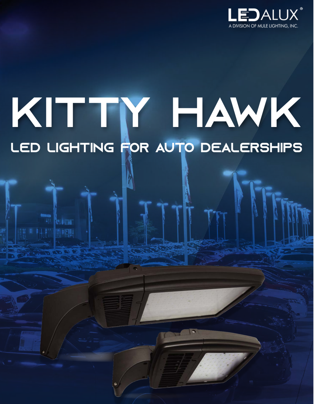 LEDalux KITTY HAWK – LED Lighting for Auto Dealerships Literature